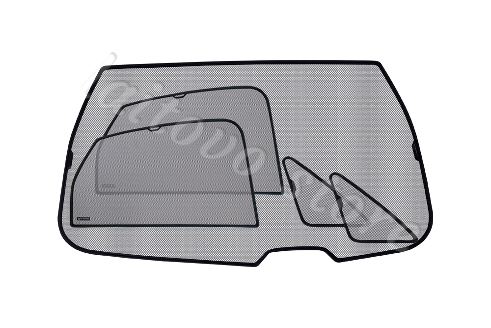 Комплект автошторок Chiko на всю машину кроме передних боковых окон